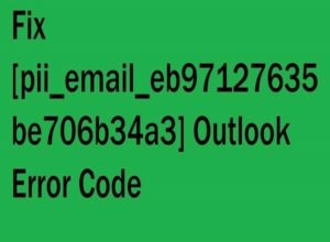 Outlook Error [pii_email_eb97127635be706b34a3] Error Fixed SOLVED Outlook Error